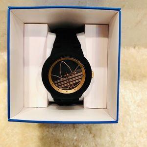 Nearly New Adidas Black & Rose Gold Watch